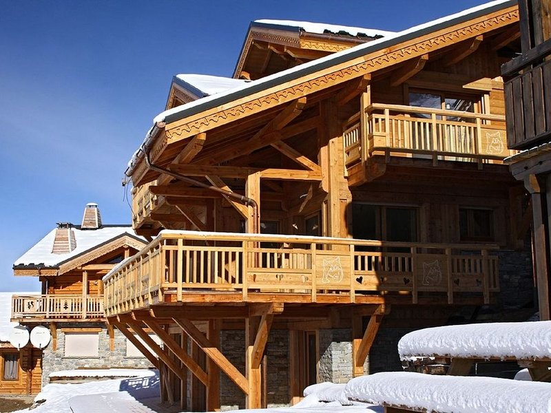 Beautiful detached chalet with a fireplace in Les Deux Alpes, holiday rental in Mizoen