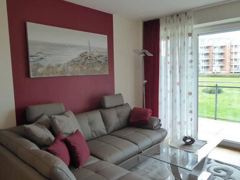 Strandpalais Wohnung 4, Seesicht, WLAN, Balkon, Strandkorb am Strand (saisonbedi, casa vacanza a Duhnen
