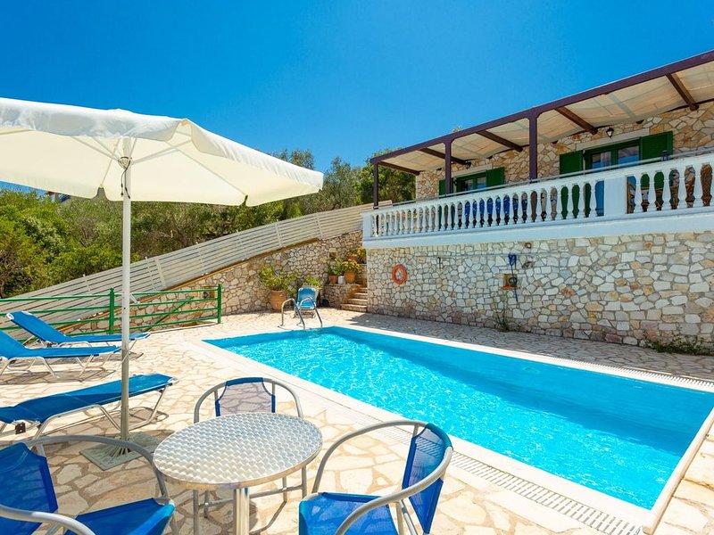 Villa Martha: Large Private Pool, Walk to Beach, Sea Views, A/C, WiFi, Car Not R, vacation rental in Gaios