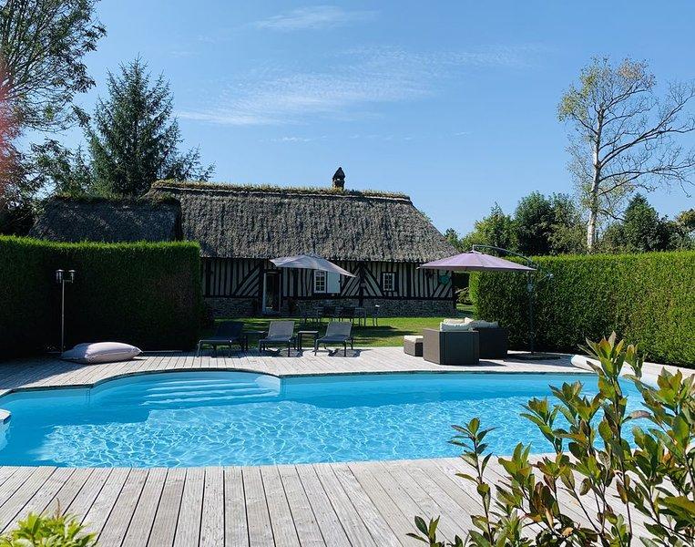 Chaumière normande et sa maison d'amis, pour 6/7 personnes avec piscine chauffée, alquiler de vacaciones en Eure
