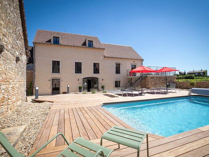 Maison de charme pour 15 personnes  à Pommard, à 2km de Beaune, holiday rental in Pommard