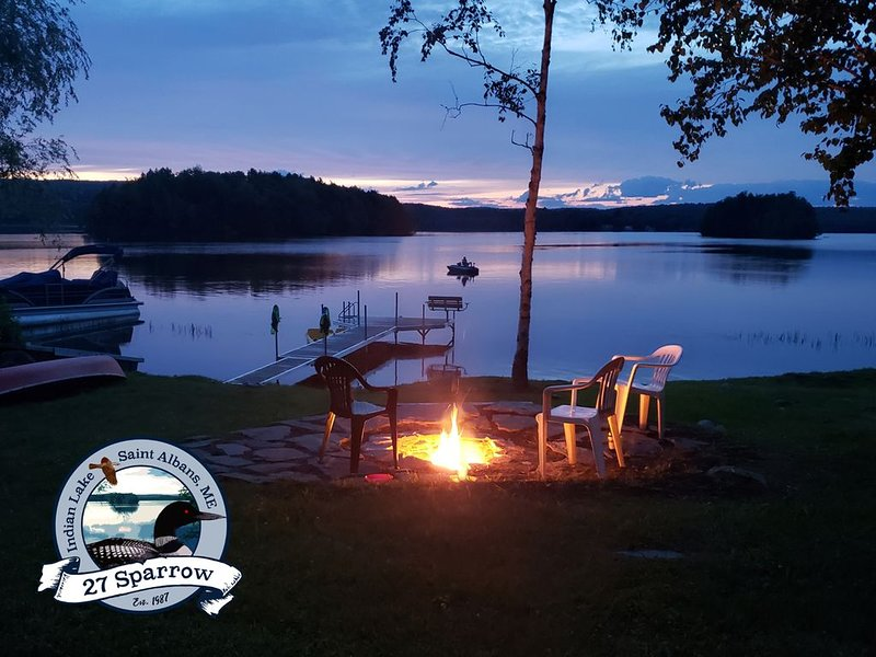 Rustic Lakeside Camp with an Amazing View, holiday rental in Harmony
