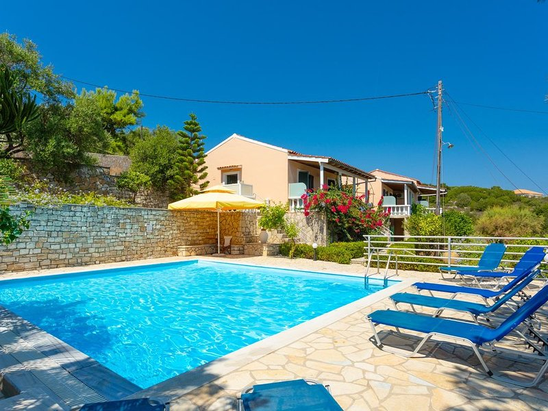 Dolphin Villa 2: Swimming Pool, Walk to Beach, Sea Views, A/C, WiFi, vacation rental in Gaios