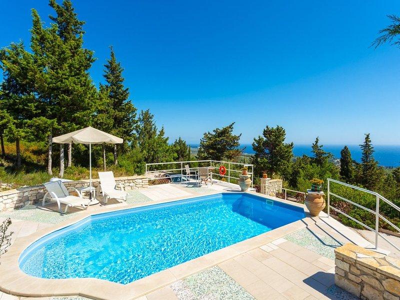 Villa Windmill: Large Private Pool, Sea Views, A/C, WiFi, location de vacances à Paxos