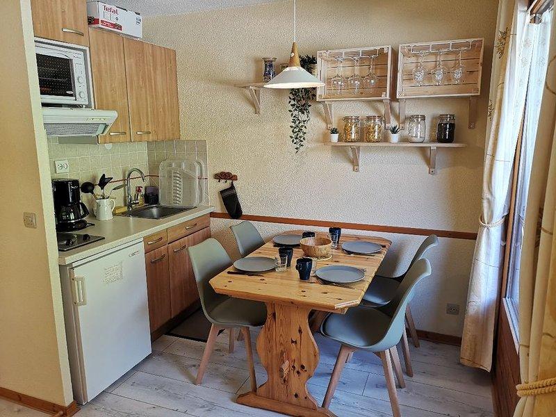 Appartement de charme 4/5 pers – face au télécabine, location de vacances à Les Contamines-Montjoie
