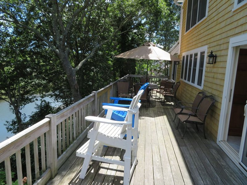 Gorgeous Multi Family Waterfront, Private Dock, Hot Tub/Sauna, Full Apartment, holiday rental in Waquoit