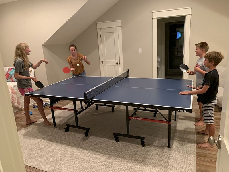 A brand-new Stiga ping-pong table is fun for the whole family!