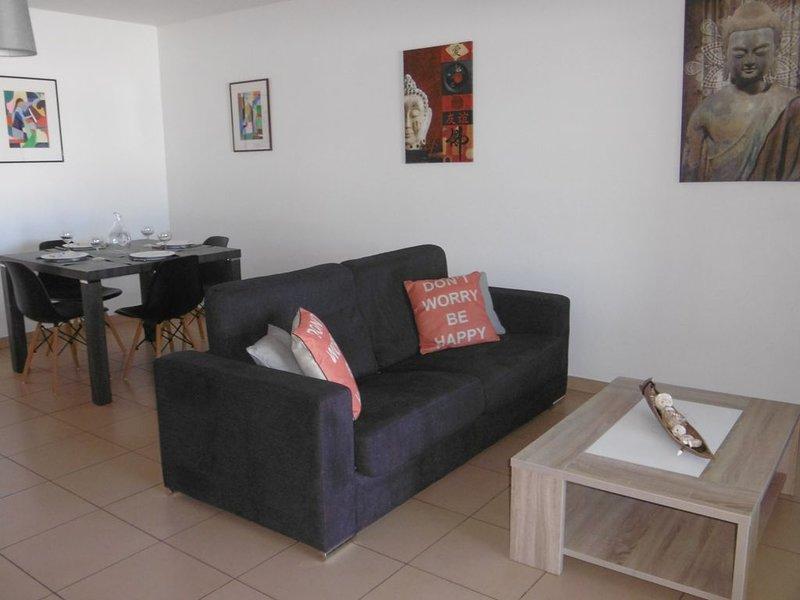 Magnifique T2 avec terrasse au coeur de Saint Pierre, casa vacanza a Bois d'Olives