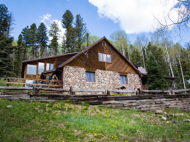 Our lovely mountain home in the spring.