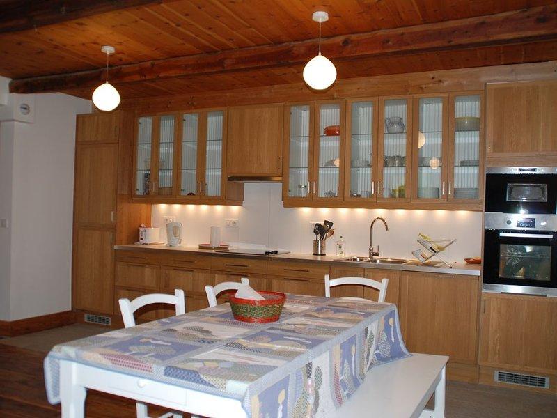 Au coeur du Queyras, appartement d'archictecte de 90m², vues exceptionnelles, location de vacances à Château-Ville-Vieille