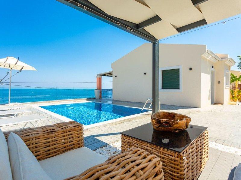 Akti Barbati Villa Tria: Private Pool, Walk to Beach, Sea Views, A/C, WiFi, Car, holiday rental in Barbati