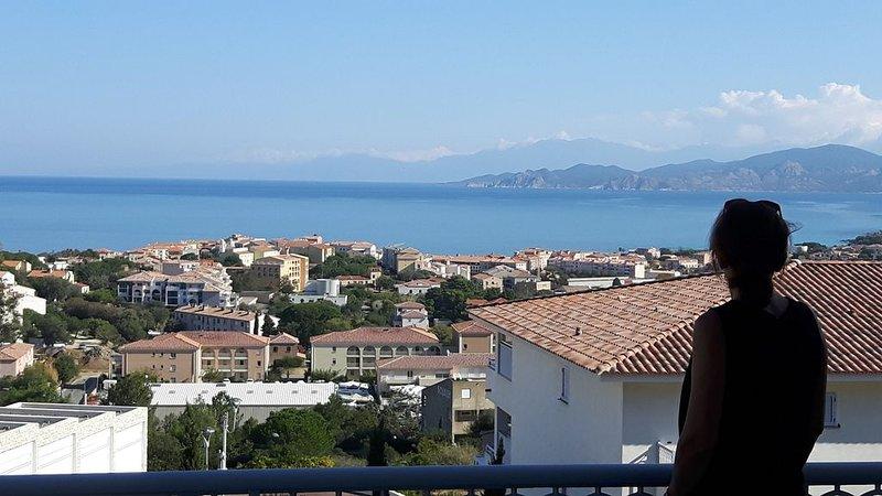 Appartement T2   vue mer extraordinaire, location de vacances à Île-Rousse