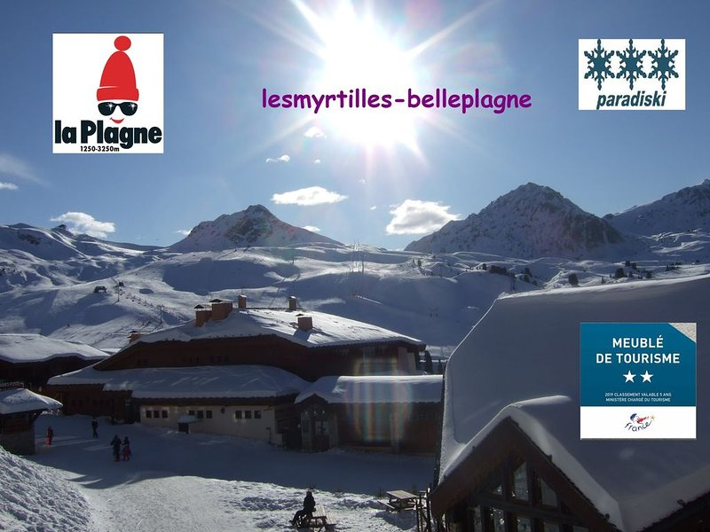 BELLE PLAGNE Apartment, sunny, on the runs, mountain style decoration, vacation rental in Belle Plagne