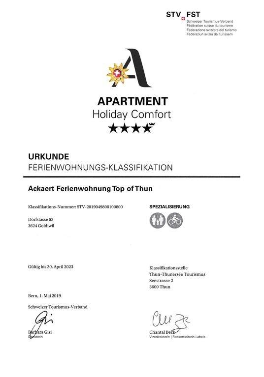 Certificate STV 4.5 stars