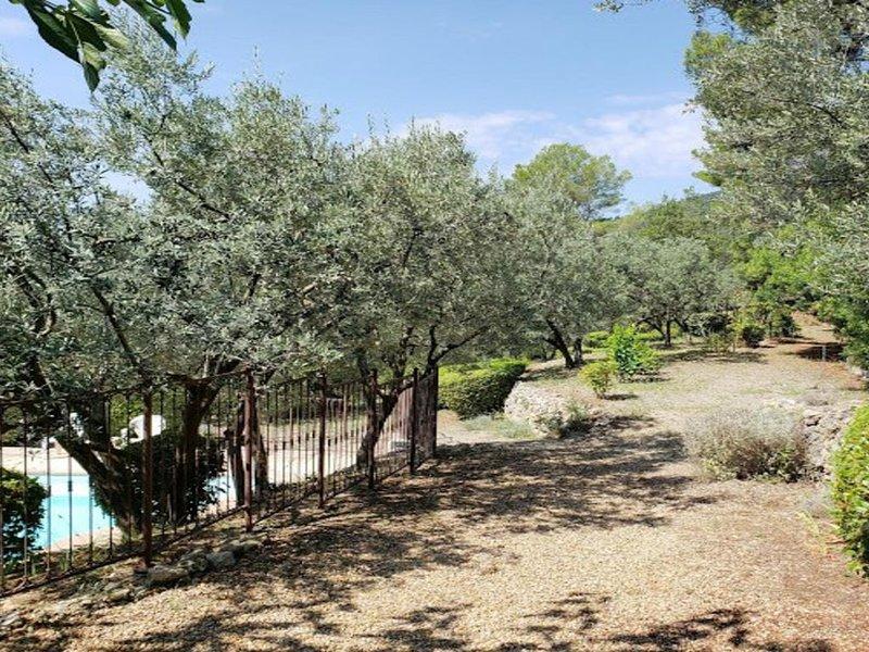 Comfortable provencal villa with great views, pool, garden & 60+ olive trees, casa vacanza a Callas