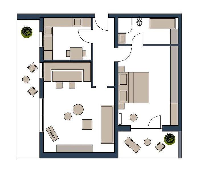 Fewo mit 2 Balkonen, Parkplätze und Restaurant am Haus, holiday rental in Ruhstorf an der Rott