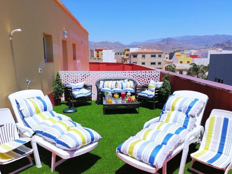 Apartamento vistas a la montaña y mar, casa vacanza a Pozo Izquierdo