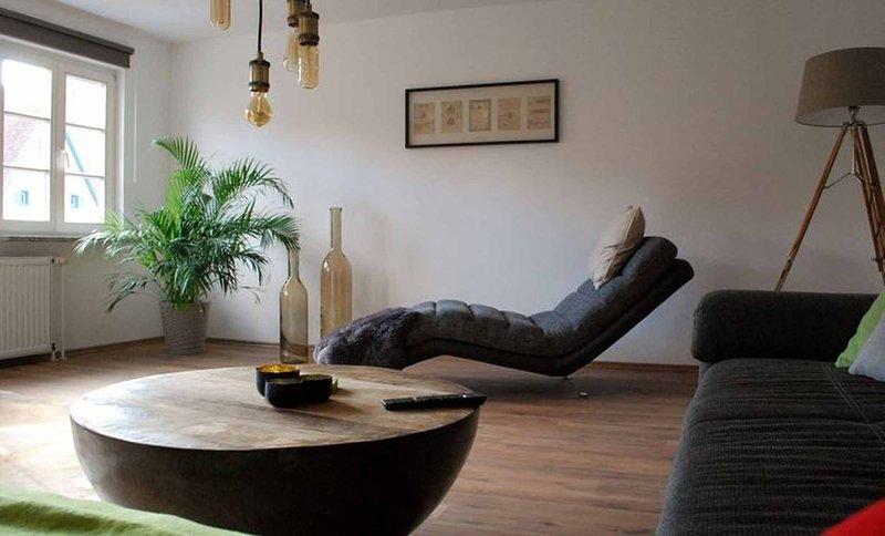 Großzügig geschnittenes 85qm Feriendomizil, Lounge Liege und Balkon, herrlicher, holiday rental in Dinkelsbuhl