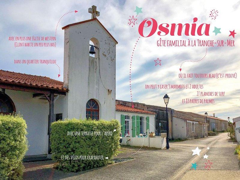 Osmia - Maison typique au cœur de la Terrière, holiday rental in La Tranche sur Mer