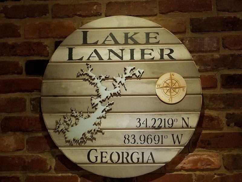 Lake Lanier's general coordinates. Lake is huge. 56,000 acres, 400 miles shore.