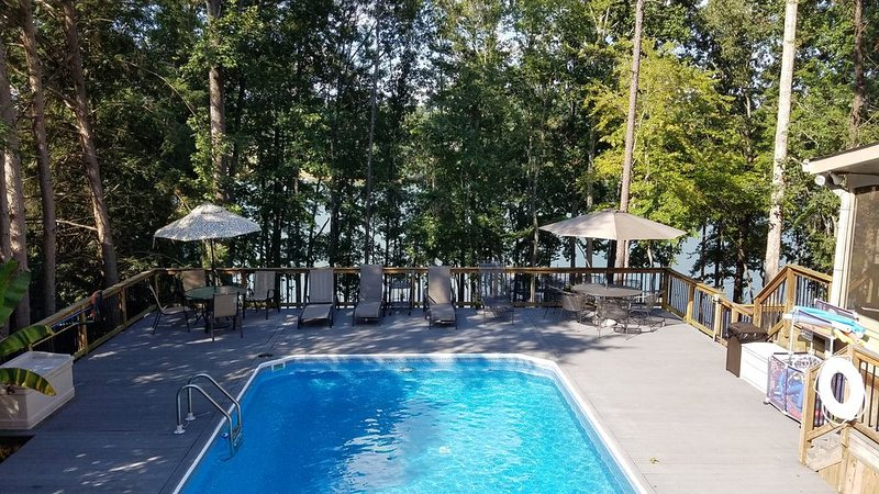 Lunch or lounging on the pool deck overlooking the lake.