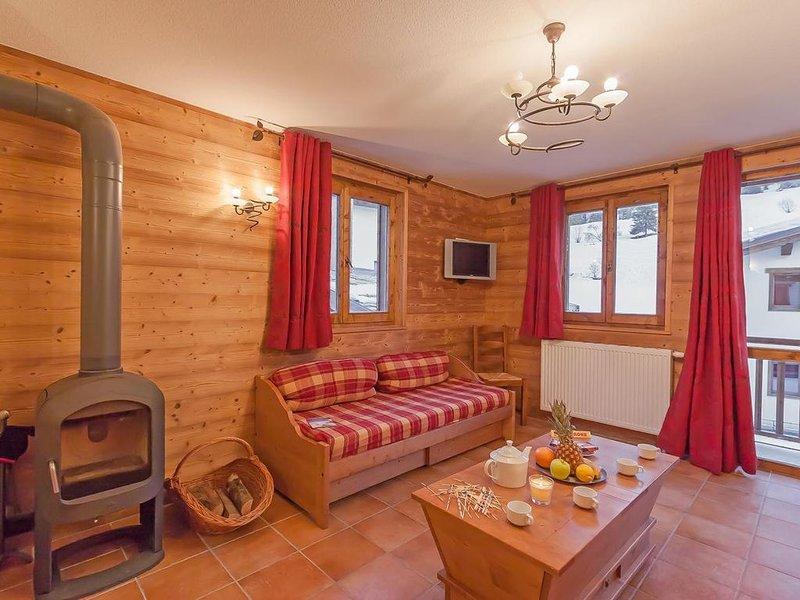 Wifi, à 200m des pistes de ski, remise en forme, balcon, parking, télévision, ca, aluguéis de temporada em Val-Cenis