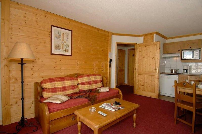 Wifi, à 300m des pistes de ski, remise en forme, piscine, terrasse, balcon, télé, aluguéis de temporada em Saint-Nicolas-la-Chapelle