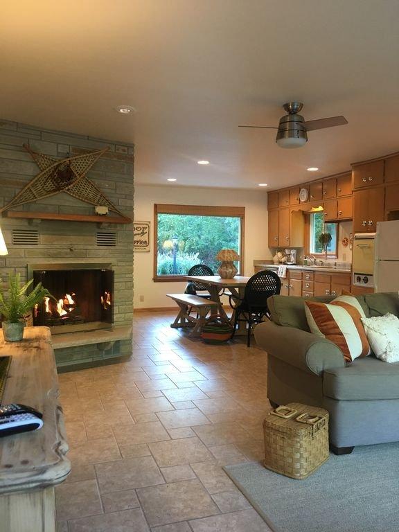 Open Concept Living & Kitchen area at Fish Creek Beginnings, Door County