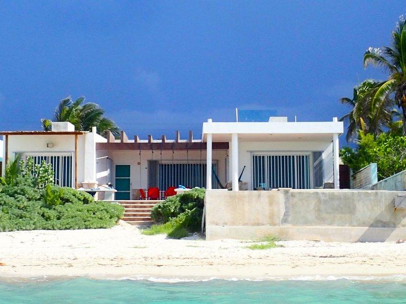 Das Haus aus dem Wasser.