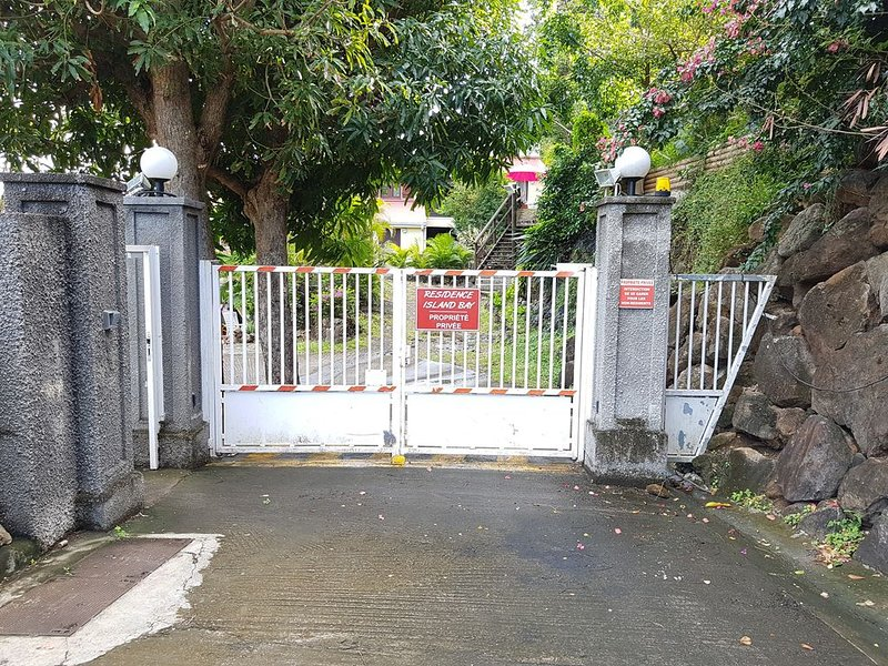 Entrance to the secure residence.
