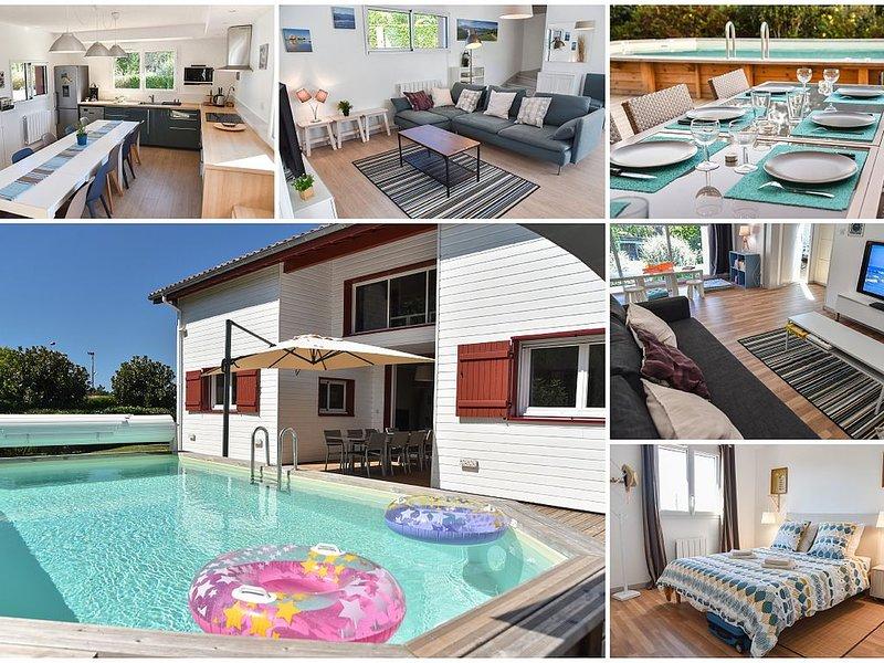 Maison 12 personnes avec piscine sur Saint Jean De Luz, location de vacances à Saint-Jean-de-Luz