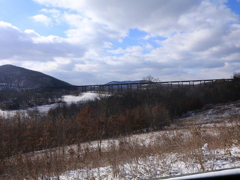 Uma visão de inverno do nosso cavalete.