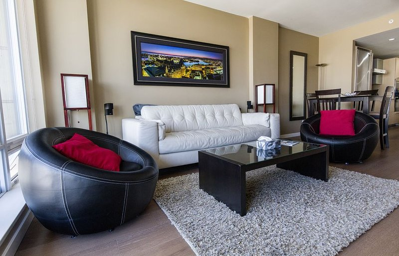 The Living Room is stylishly furnished for your comfort.