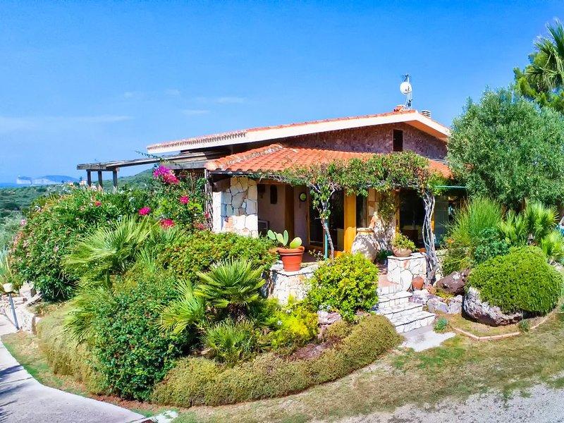 Vicino centro di Alghero, vista mare con aria condizionata, per 10 /12 persone, casa vacanza a Villanova Monteleone