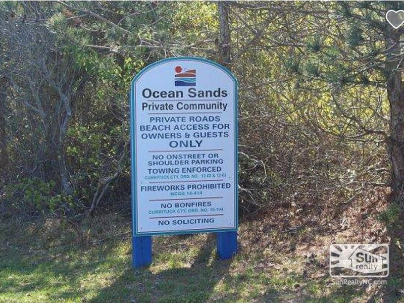 Beach access is restricted to residents of the neighborhood - no public access.