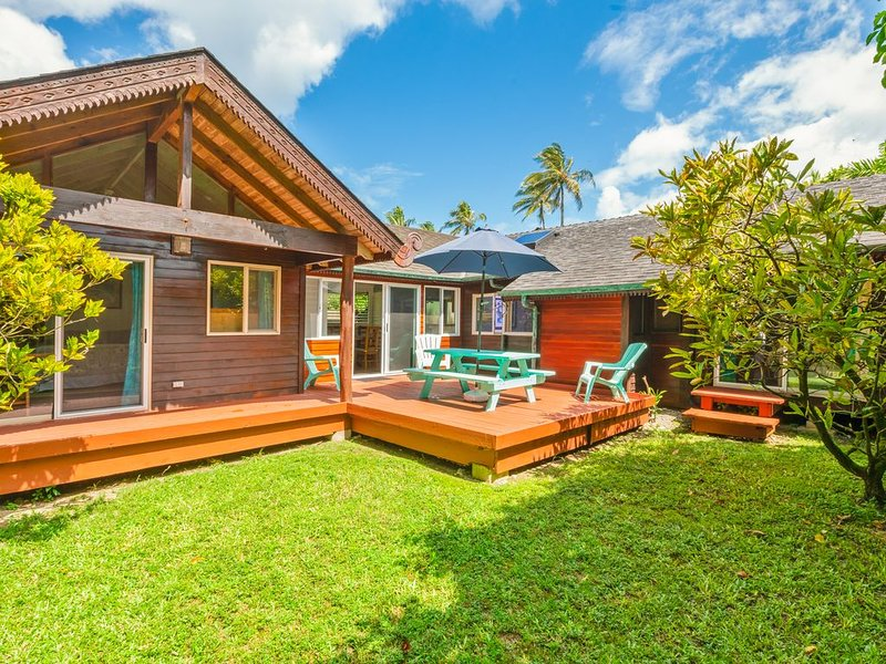 NOV DISC Family Friendly Affordable Beach House Steps to the Beach  Lic TVNC1058, holiday rental in Hanalei
