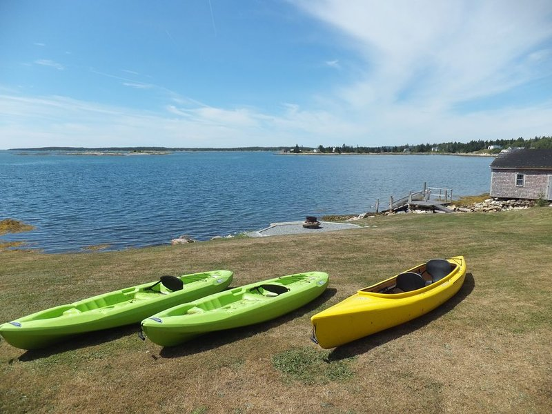 Kayaks available to rent.