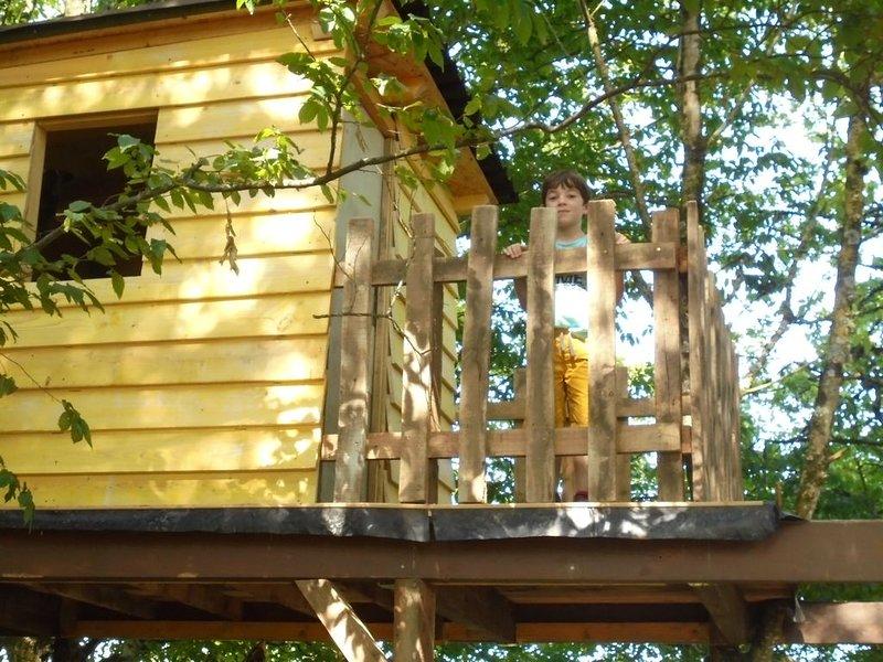 hut in the garden