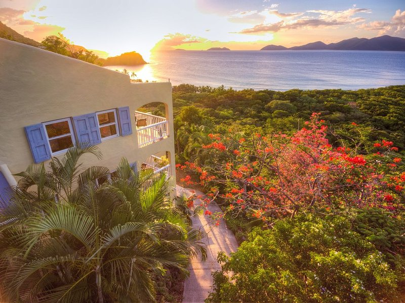 Stunning sunsets can be viewed throughout the villa