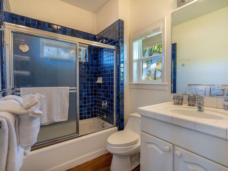 Guest cottage bathroom.  - Guest cottage bathroom.