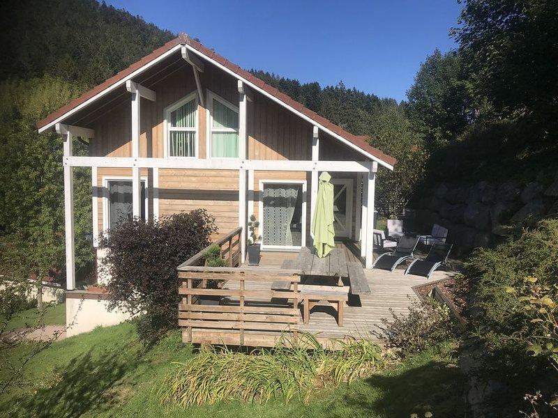 Chalet 8/ 10 pers,   4  ****tout confort,   sauna,  terrasse  aménagée , garage, casa vacanza a Xonrupt-Longemer