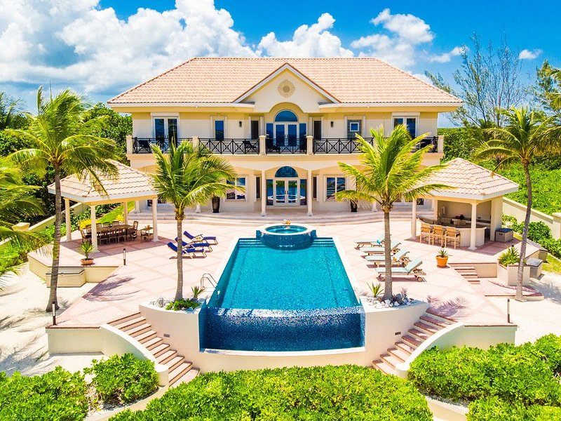Blue Water Villa is surrounded by lush tropical landscaping providing additional privacy.