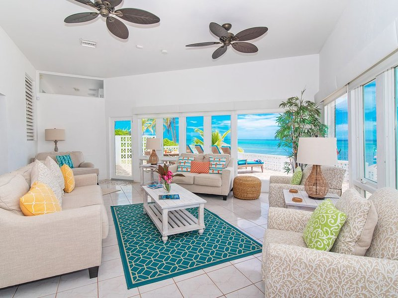 2BR-Moon Glow: Oceanfront Private Villa in Rum Point with Excellent Snorkeling, vacation rental in Grand Cayman
