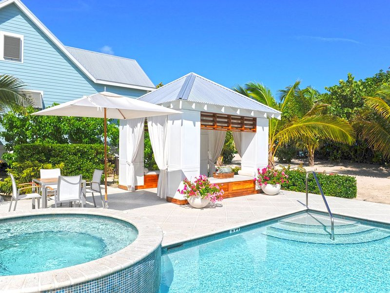 Poolside cabana.