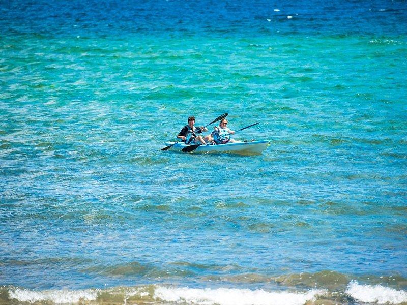 Kayak the seas along the resort.
