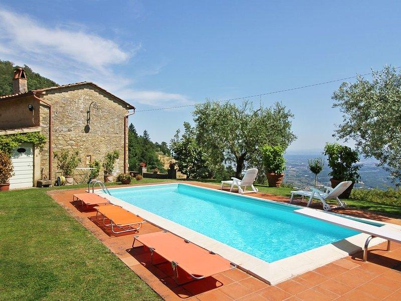 Villa Petrognano con piscina e giardino privato, holiday rental in Villa Basilica