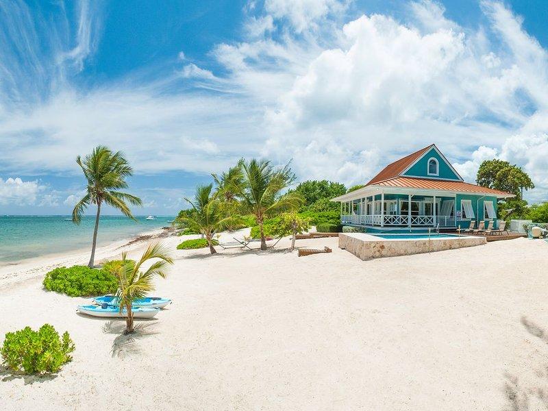 3BR-Lone Palm-Oceanfront Cottage with Award-Winning Floorplan, Lovely Beach. Ne, location de vacances à Gun Bay