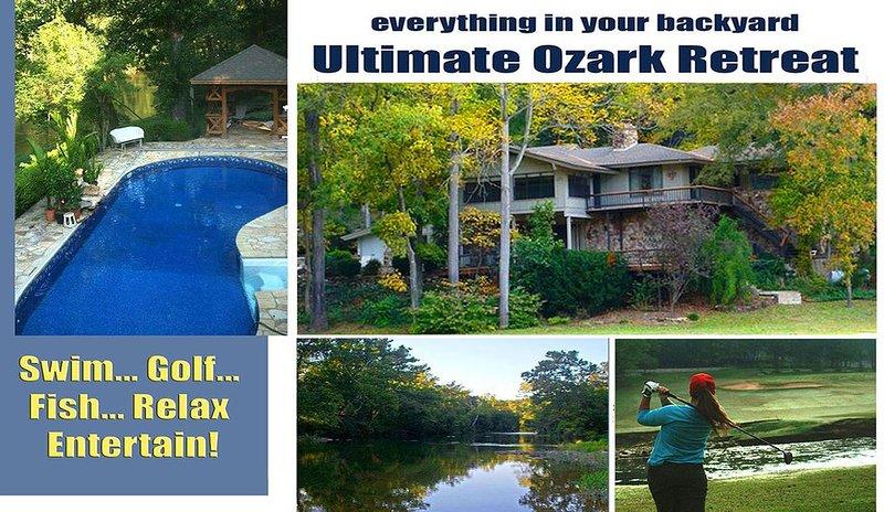 Riverfront, Golf Course Retreat With Pool!, aluguéis de temporada em Cherokee Village