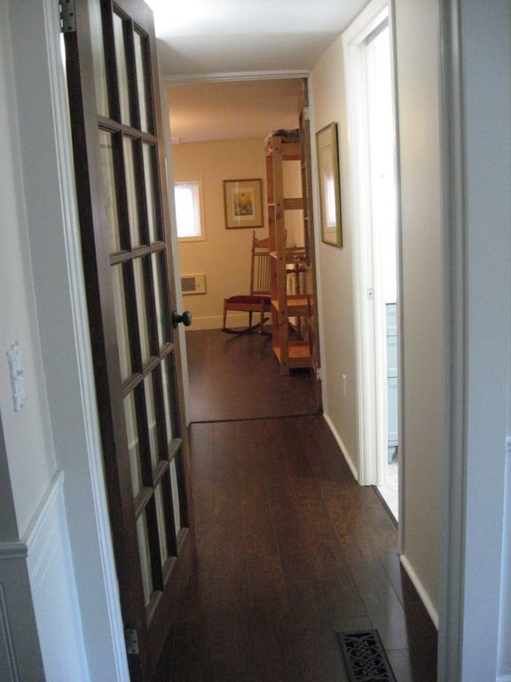 Private hallway in guest quarters.