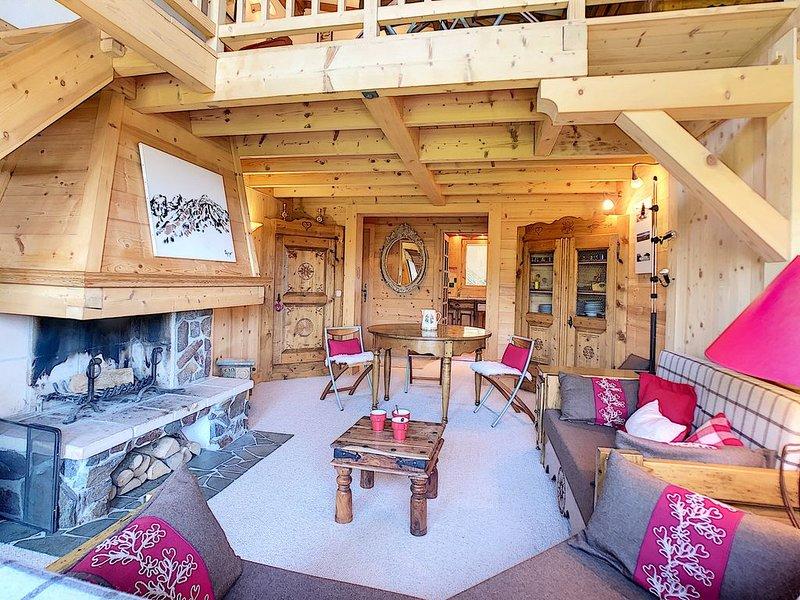 Station de ski de Megève aux pieds des pistes du Mt d'Arbois et du Golf, alquiler vacacional en Megève